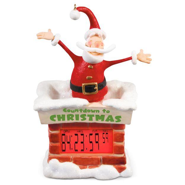 Countdown to Christmas Santa Countdown Clock Ornament Keepsake