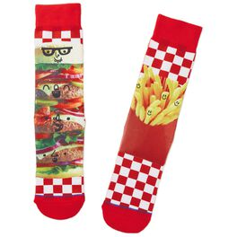 Burgers and Fries Toe of a Kind Socks, , large