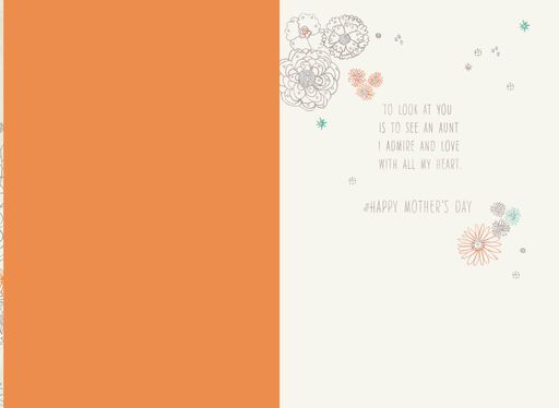 For an Admired Aunt on Mother's Day Card,