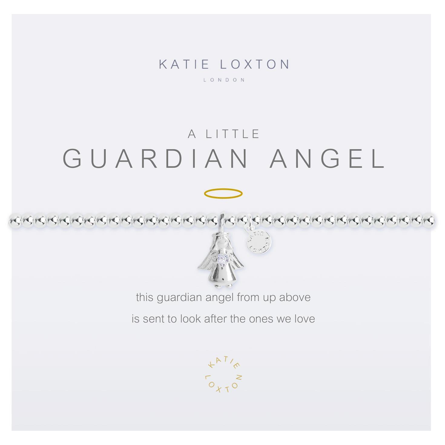 d9352d3a4015b Katie Loxton A Little Guardian Angel Silver Bracelet