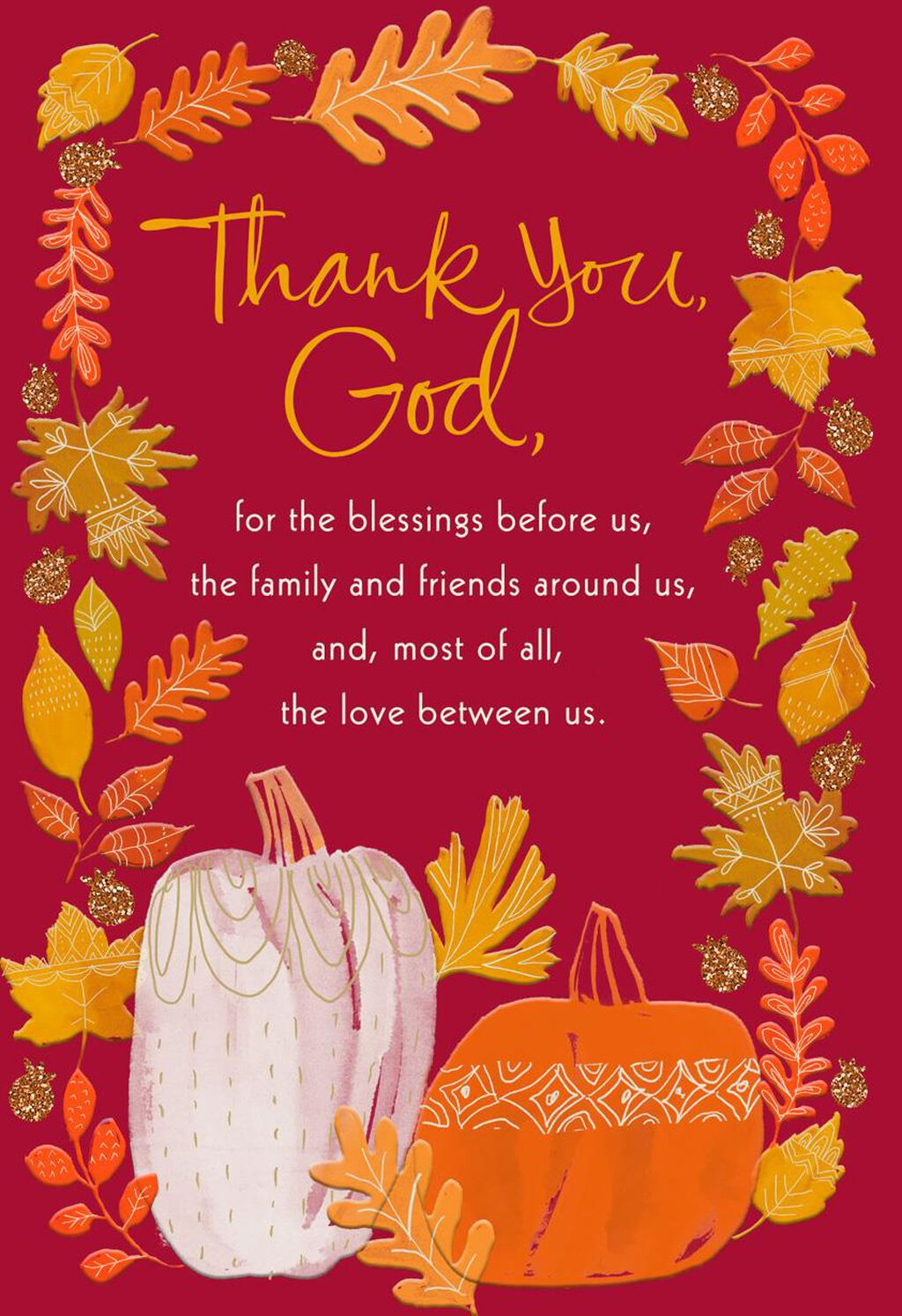 With Love And Gratefulness Religious Thanksgiving Card Greeting