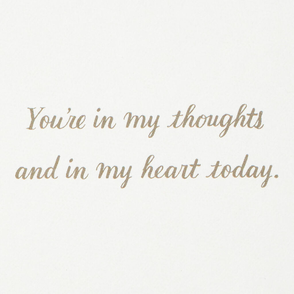 You're In My Thoughts and My Heart Mother's Day Card