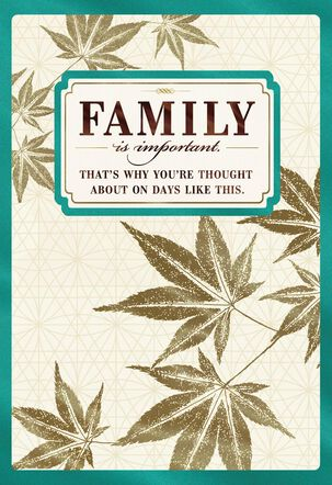 Family Is Important Father's Day Card