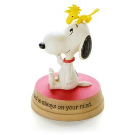 Woodstock Sitting on Snoopy™ Figurine, , large