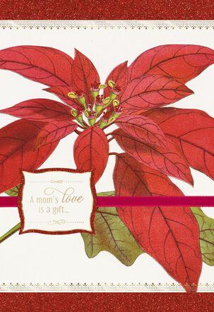 Thank You Mom Christmas Poinsettia Card
