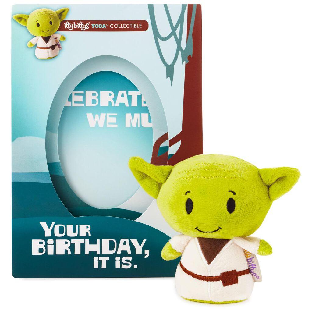 Itty Bittys Star Wars Yoda Birthday Card With Stuffed Animal
