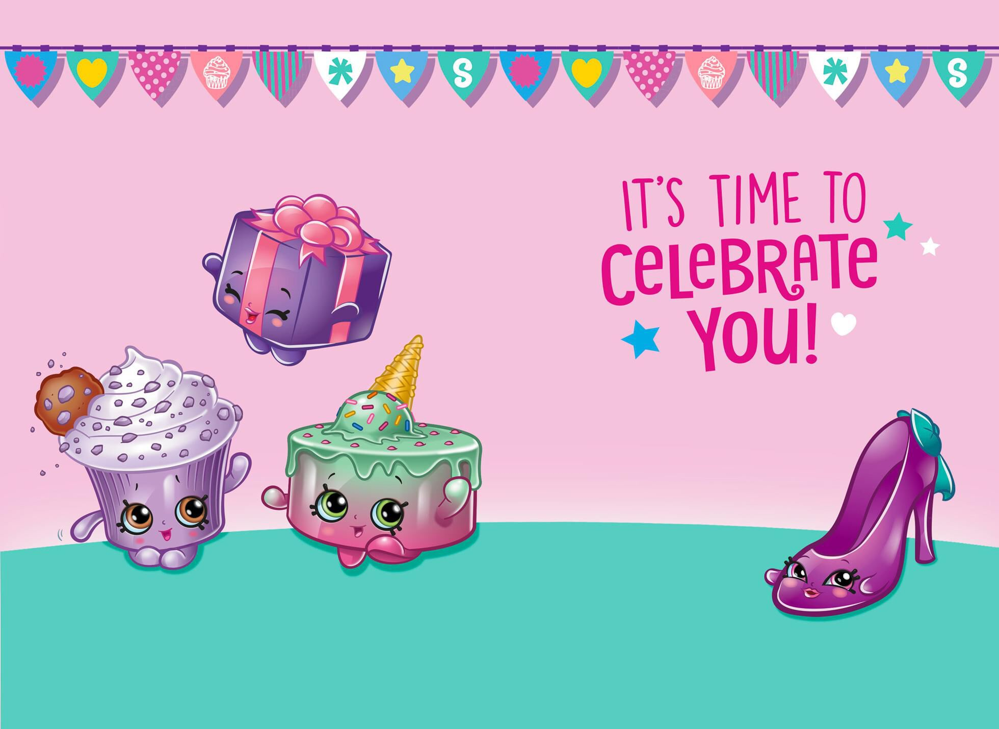 picture about Shopkins Birthday Card Printable titled children birthday playing cards -