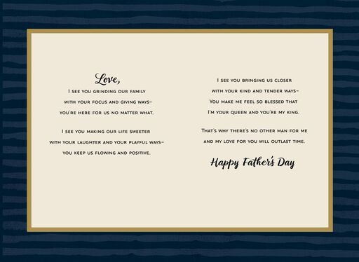 Jill Scott No Other Man Romantic Father's Day Card for Husband,
