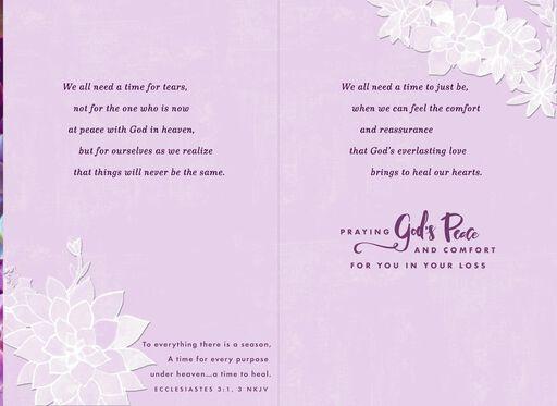 Praying God's Peace Religious Sympathy Card,