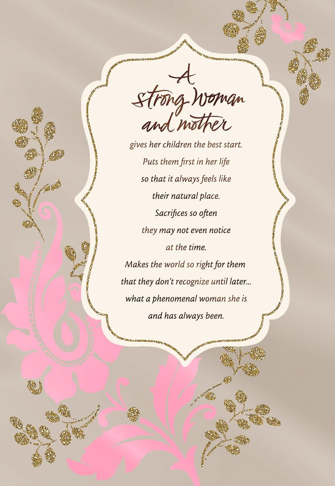 Youre a strong incredible mother card greeting cards hallmark bookmarktalkfo Gallery