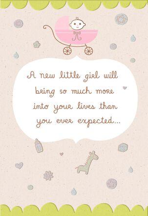 Mazel Tov! Little Girl New Baby Card