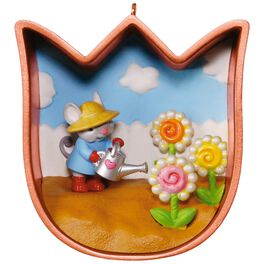 Cookie Cutter Mouse Spring Ornament, , large