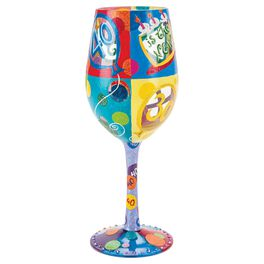Lolita® 40 is the New 30 Handpainted Wine Glass, 15 oz., , large