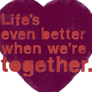 Better Together Love Card,