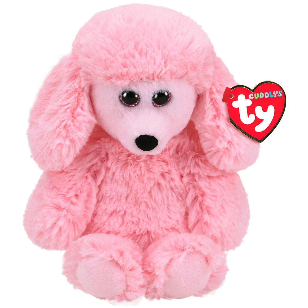 Ty Cuddlys Small Pricilla Poodle Stuffed Animal 8 Classic