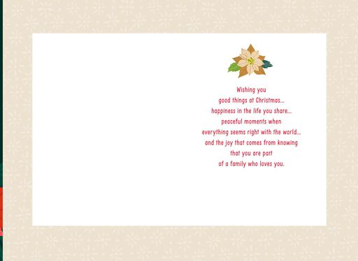 A Wish for Daughter and Husband Christmas Card,