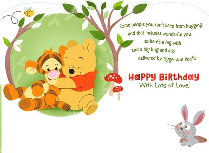 Winnie The Pooh Birthday Card For Granddaughter