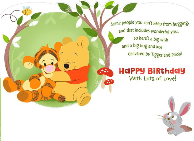 Winnie The Pooh Birthday Card For Grandson