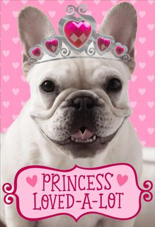 Princess Loved-A-Lot Valentine's Day Card for Granddaughter,