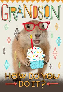 Sure Do Love You, Grandson Birthday Card,