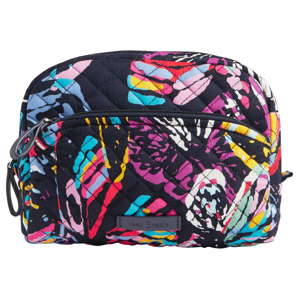 Vera Bradley Iconic Medium Cosmetic Bag In Erfly Flutter