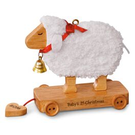Little Lamb Baby's First Christmas Ornament, , large