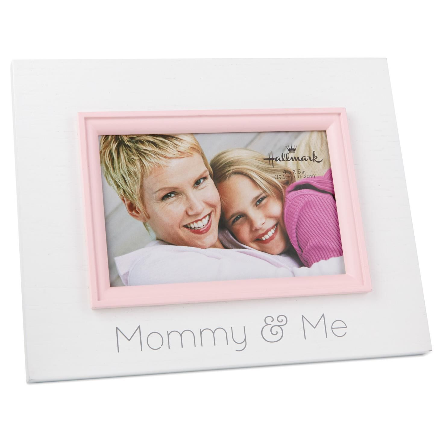 mommy and me wood photo frame 4x6
