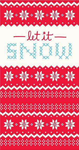 Stitched Snowflakes Christmas Card