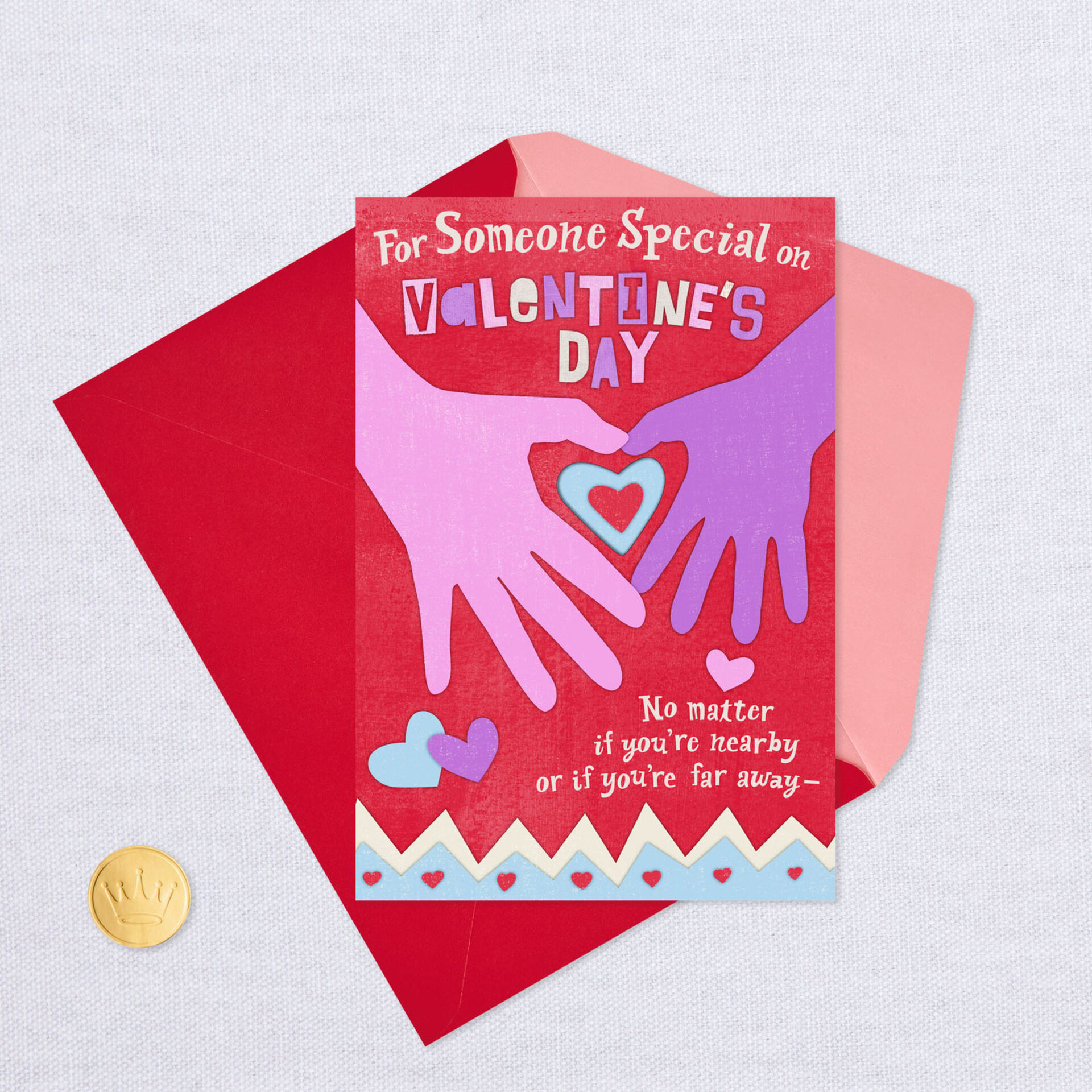 love keeps us together recordable valentine's day card