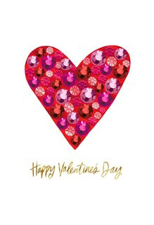 Bling Heart Happy Valentine's Day Card,