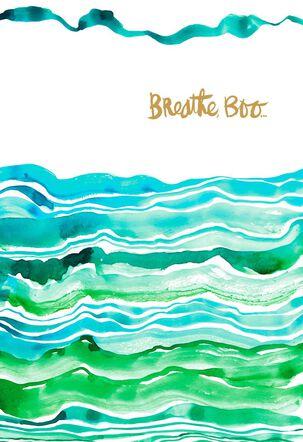 Jill Scott Watercolor Waves Friendship Card