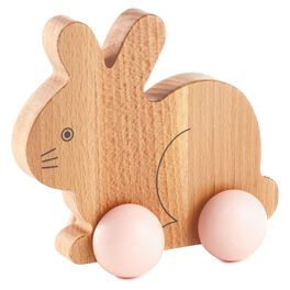 Bunny Wood Push Toy, , large