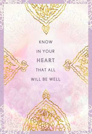 All Will Be Well Encouragement Card