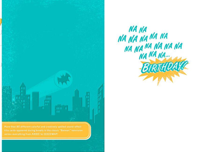 BatmanTM Classic TV Series KA POW Birthday Card