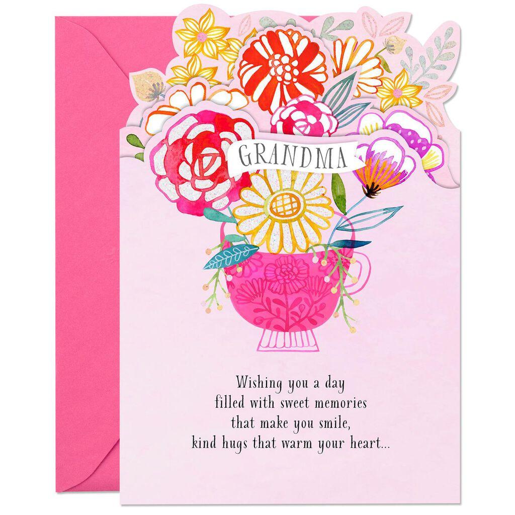 Wishing You Sweet Memories Birthday Card For Grandma