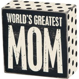 Primitives by Kathy Greatest Mom Box Sign, , large