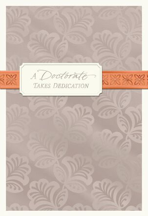 Pewter Foil Doctorate Congratulations Card