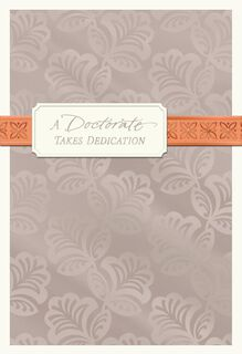 Pewter Foil Doctorate Congratulations Card,