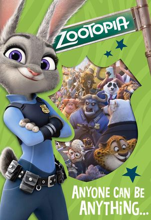 Disney Zootopia You Chose to Be Awesome Card With Magnet
