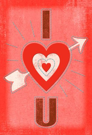 Heart and Arrow Romantic Valentine's Day Card