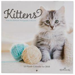 Kittens 2018 Mini Wall Calendar, 12-Month, , large