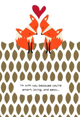 We Are Sure a Couple of Foxes Sweetest Day Card