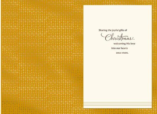 Tiny Baby Silent Night Christmas Card,