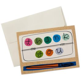 Paint Tray and Brush Thank You Notes, Box of 10, , large