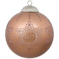 2017 Christmas Commemorative Glass Ornament - Keepsake ...