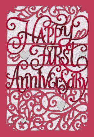 You've Only Just Begun First Anniversary Card