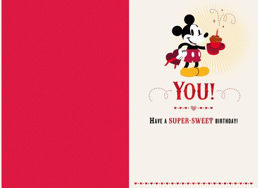 Disney Mickey Mouse Birthday Valentine's Day Card,