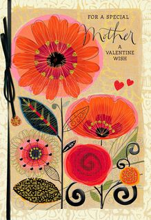 Loving Wishes for Mom Valentine's Day Card,