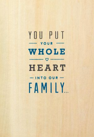 Your Whole Heart Father's Day Card for Husband
