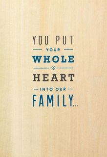 Your Whole Heart Father's Day Card for Husband,
